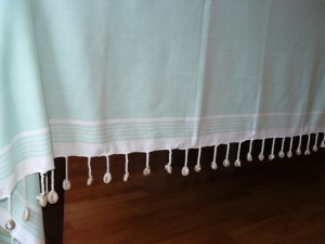 Tablecloth shell mint/white