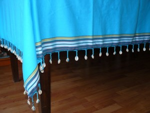 Tablecloth shell turquoise