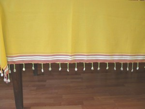 Tablecloth shell dark yellow